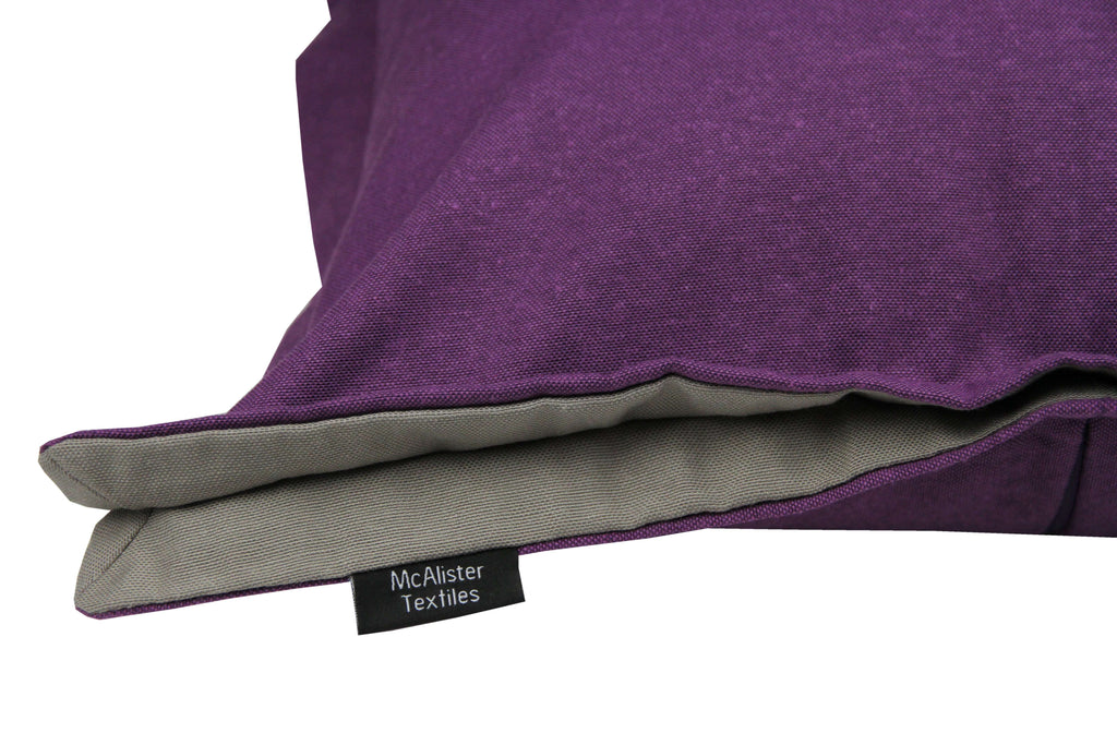 McAlister Textiles Panama Accent Purple + Grey Cushion Cushions and Covers