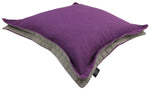 Cargar imagen en el visor de la galería, McAlister Textiles Panama Accent Purple + Grey Cushion Cushions and Covers