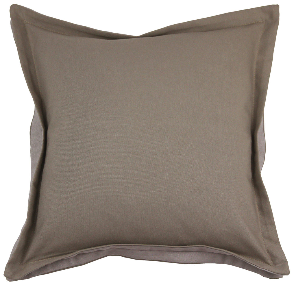 McAlister Textiles Panama Accent Taupe Beige + Grey Cushion Cushions and Covers Cover Only 43cm x 43cm