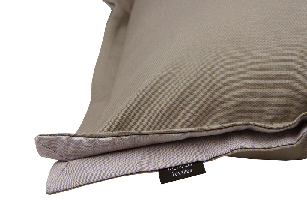McAlister Textiles Panama Accent Taupe Beige + Grey Cushion Cushions and Covers