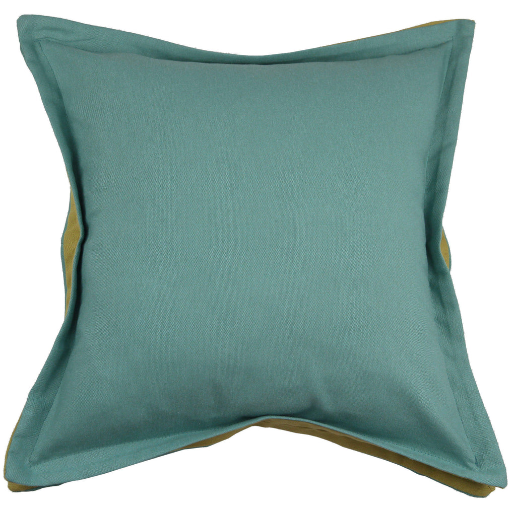 McAlister Textiles Panama Accent Teal + Lime Green Cushion Cushions and Covers Cover Only 43cm x 43cm