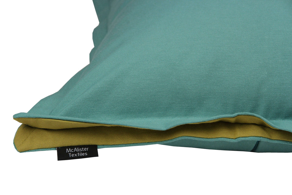 McAlister Textiles Panama Accent Teal + Lime Green Cushion Cushions and Covers
