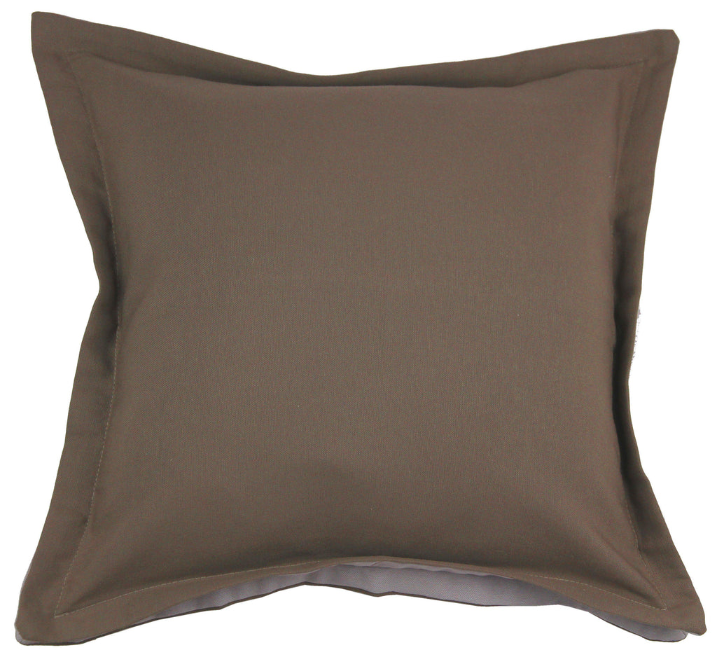 McAlister Textiles Panama Accent Brown + Grey Cushion Cushions and Covers Cover Only 43cm x 43cm