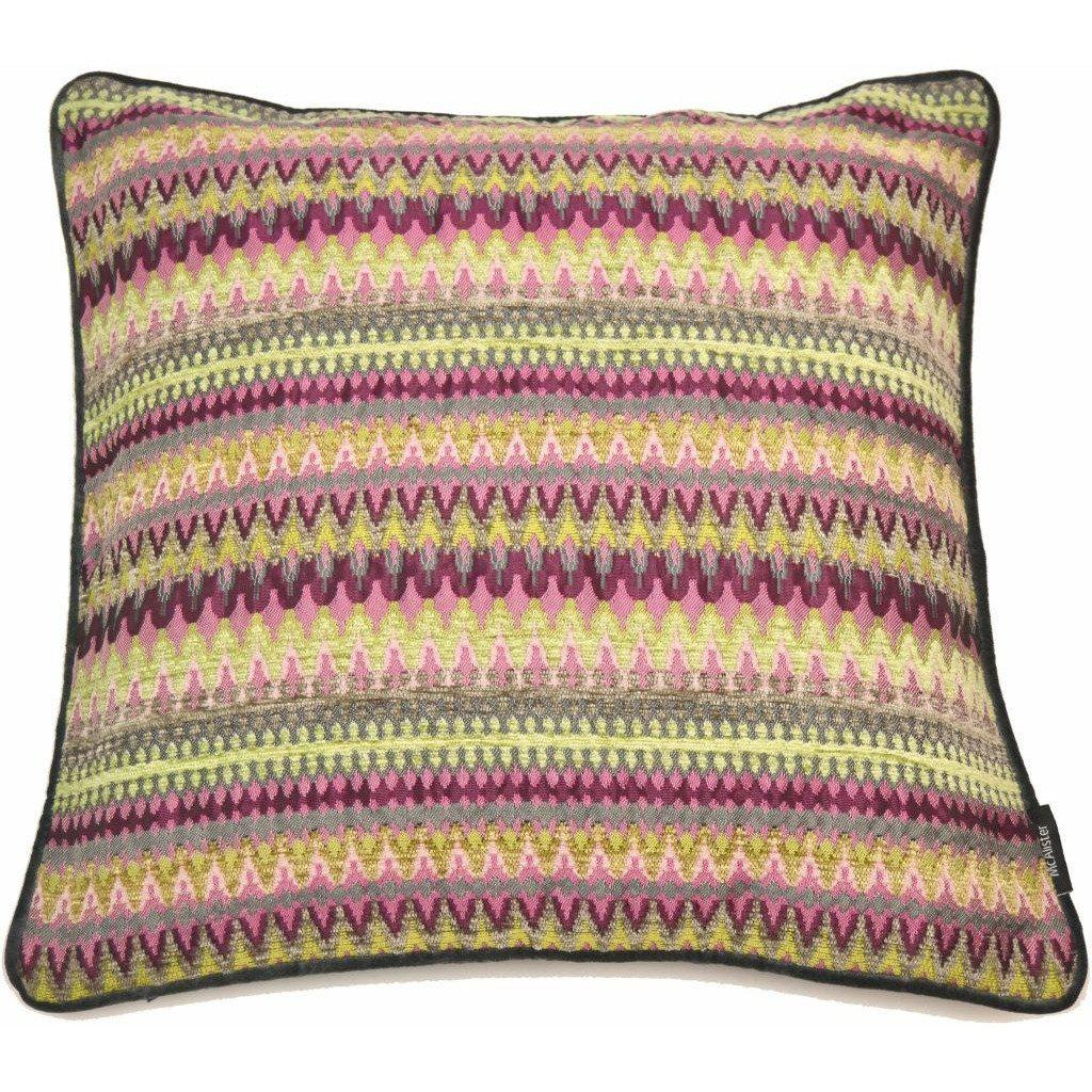 McAlister Textiles Curitiba Aztec Pink + Grey Aztec Cushion Cushions and Covers Cover Only 43cm x 43cm