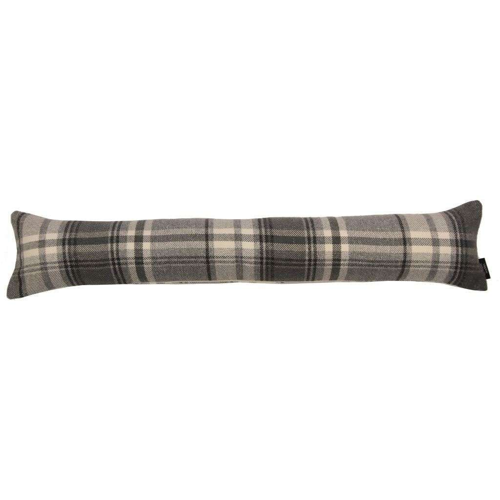 McAlister Textiles Heritage Charcoal Grey Tartan Draught Excluder Draught Excluders