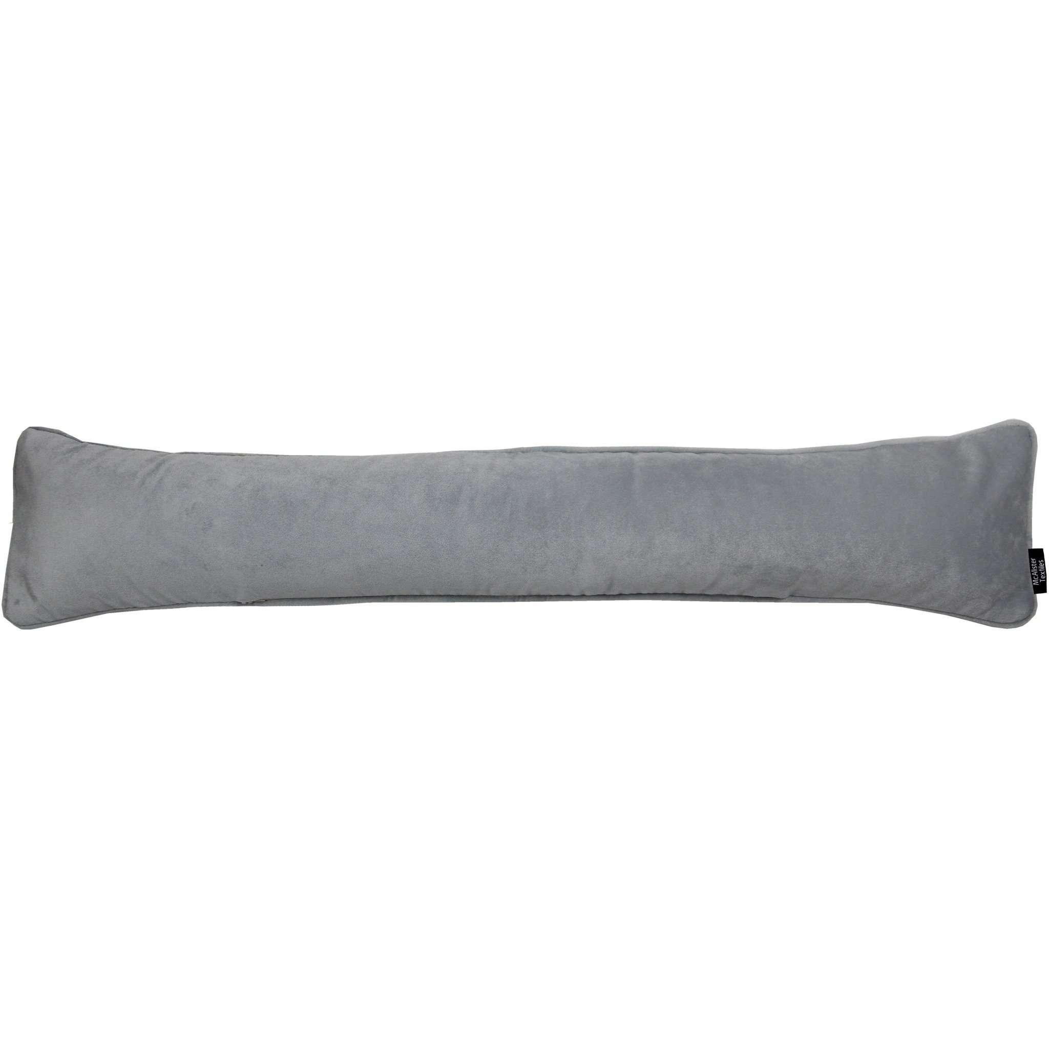 McAlister Textiles Matt Dove Grey Velvet Draught Excluder Draught Excluders