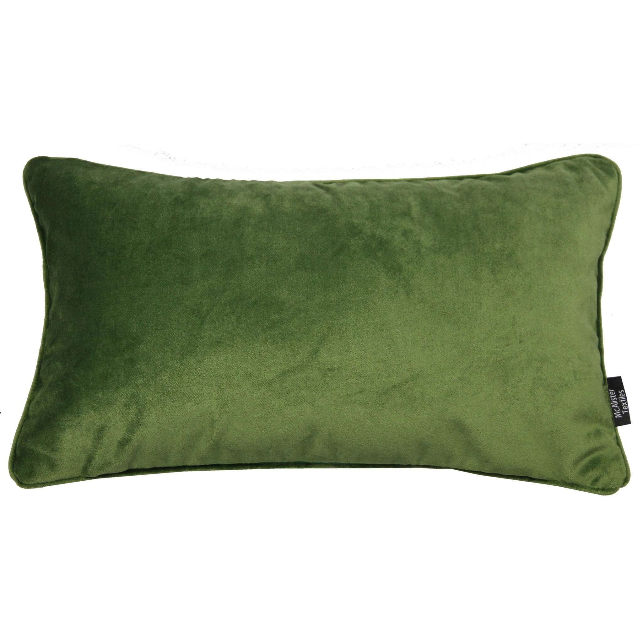 McAlister Textiles Matt Fern Green Velvet Cushion Cushions and Covers Cover Only 50cm x 30cm