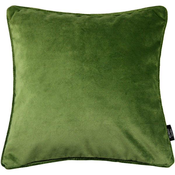 McAlister Textiles Matt Fern Green Velvet Cushion Cushions and Covers Cover Only 43cm x 43cm