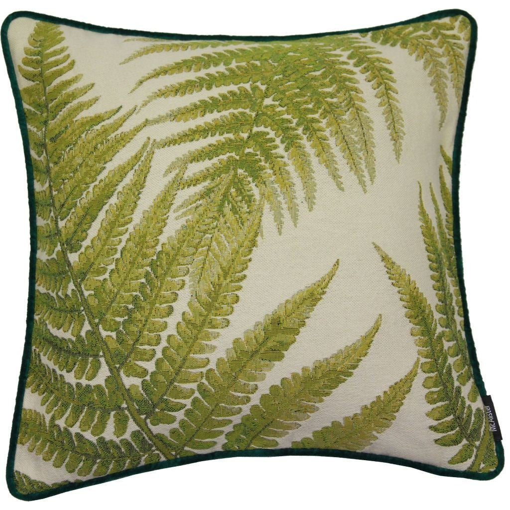 McAlister Textiles Green Forest Fern Tapestry Cushion-Cushions and Covers-Cover Only-