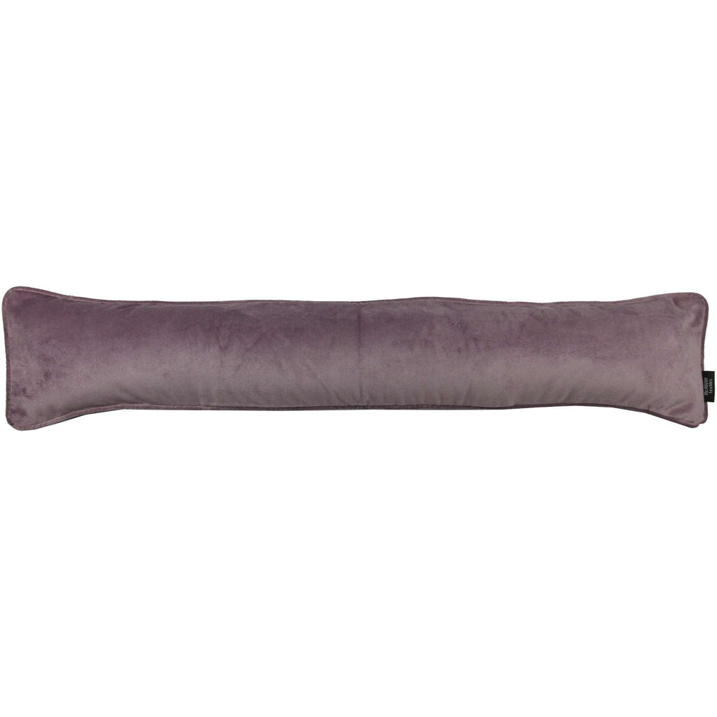 McAlister Textiles Matt Lilac Purple Velvet Draught Excluder Draught Excluders