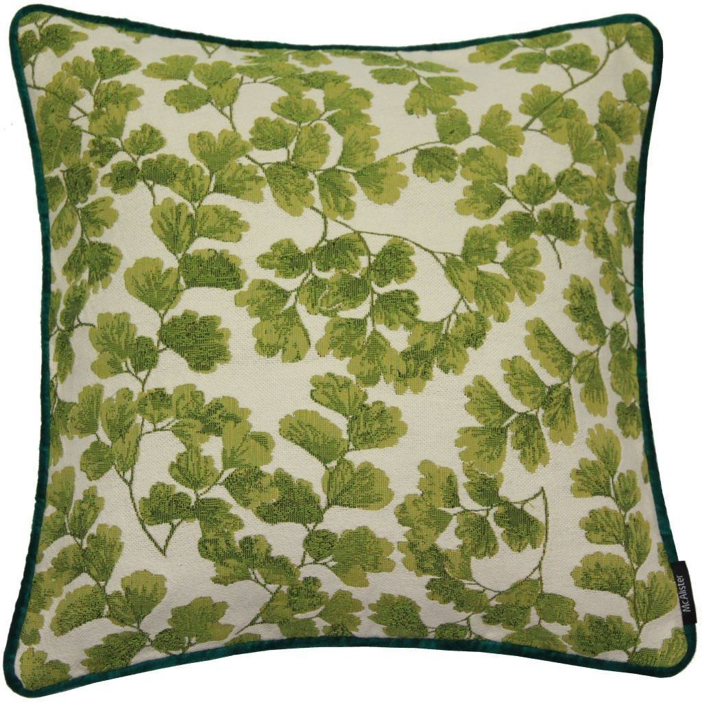 McAlister Textiles Tapestry Maidenhair Fern Green Cushion Cushions and Covers Cover Only