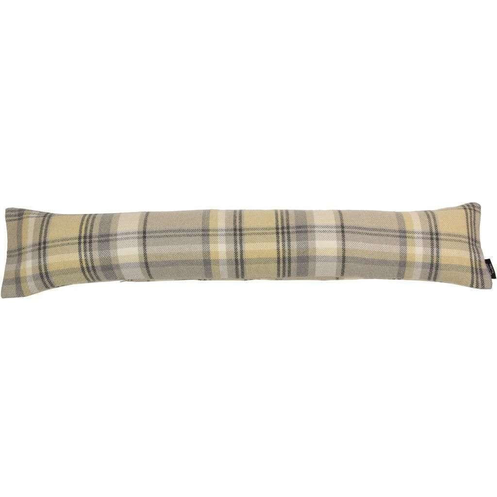 McAlister Textiles Heritage Yellow + Grey Tartan Draught Excluder Draught Excluders