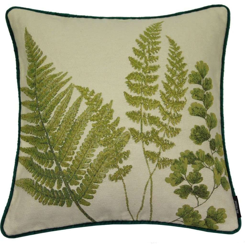 McAlister Textiles Tapestry Mixed Fern Scatter Cushion - Green Cushions and Covers Cover Only