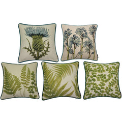 McAlister Textiles Green Mixed Fern Tapestry Cushion-Cover Only-gb-