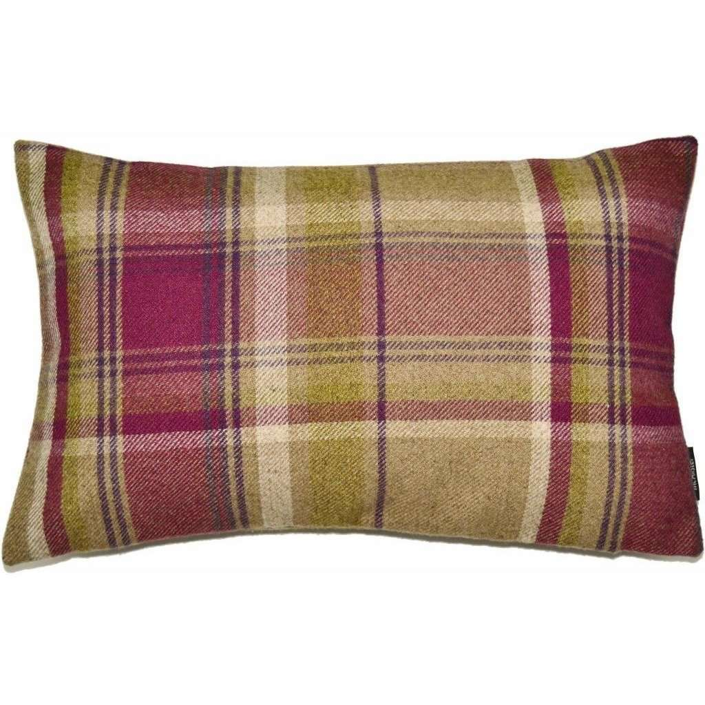 McAlister Textiles Heritage Purple + Green Tartan Pillow Pillow Cover Only 50cm x 30cm