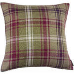 Carica l'immagine nel visualizzatore di Gallery, McAlister Textiles Angus Purple + Green Tartan Cushion Cushions and Covers Cover Only 43cm x 43cm