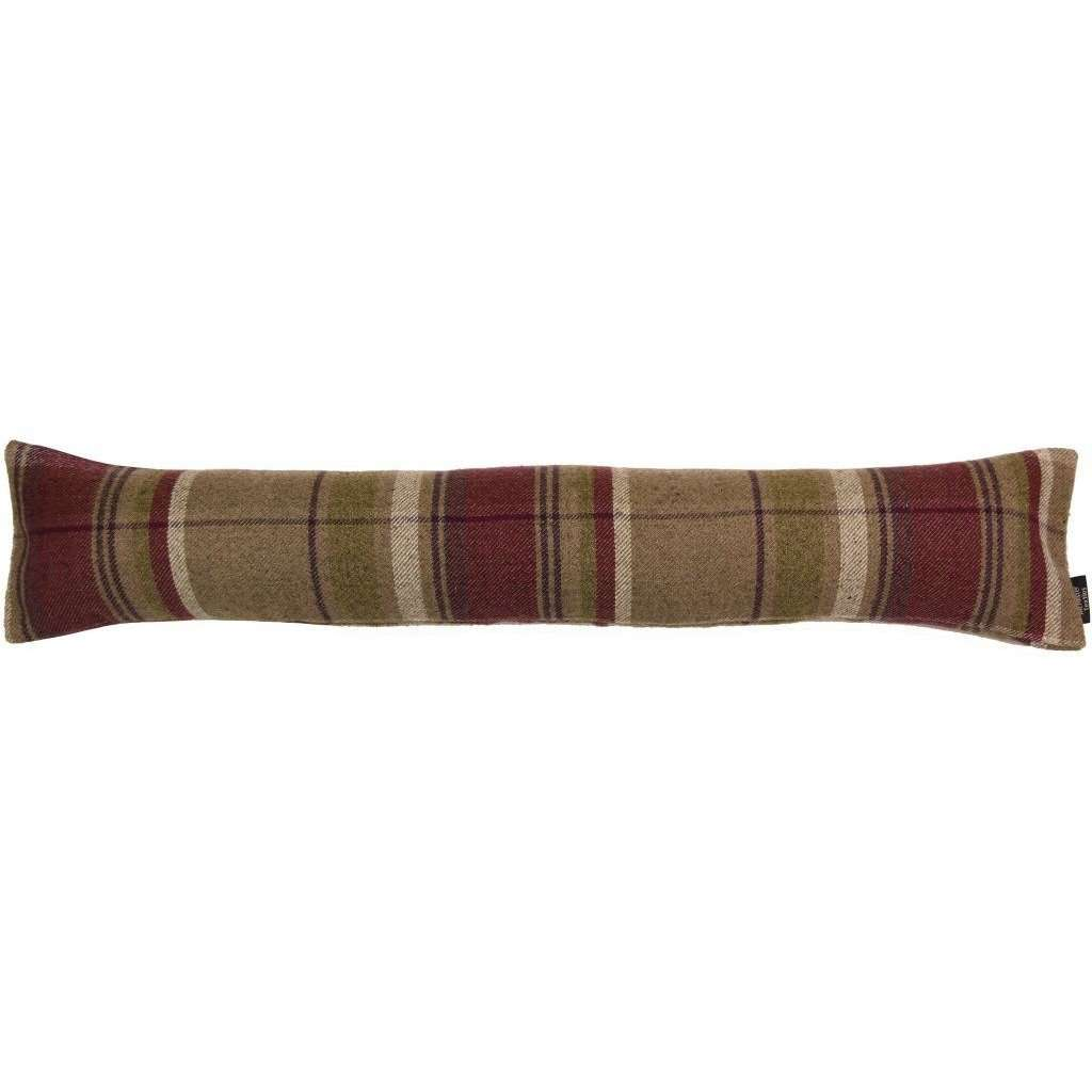 McAlister Textiles Heritage Purple + Green Tartan Draught Excluder Draught Excluders