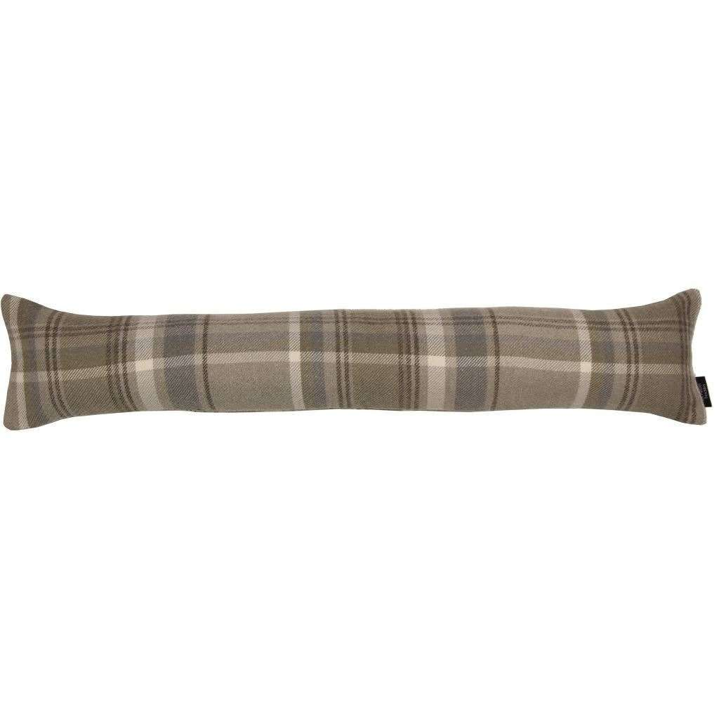 McAlister Textiles Heritage Tartan Beige Cream Fabric Draught Excluder Draught Excluders