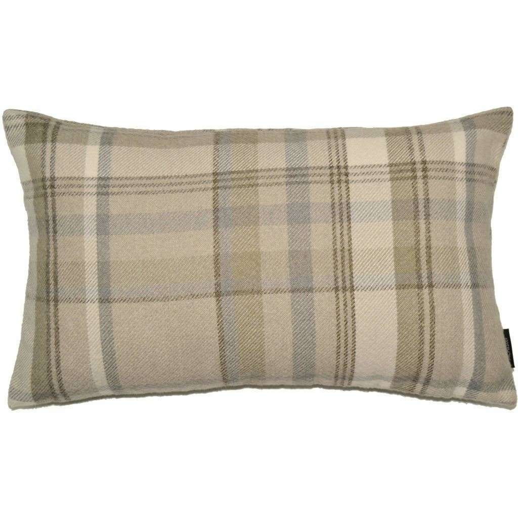 McAlister Textiles Heritage Beige Cream Tartan Pillow Pillow Cover Only 50cm x 30cm