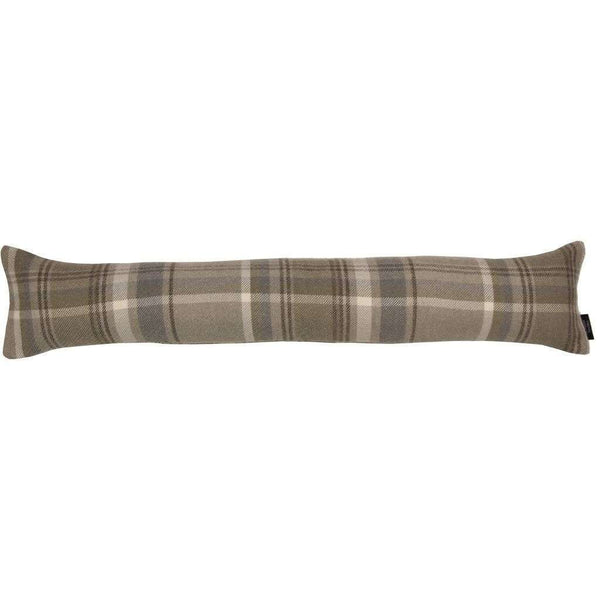 McAlister Textiles Heritage Beige Cream Tartan Draught Excluder Draught Excluders