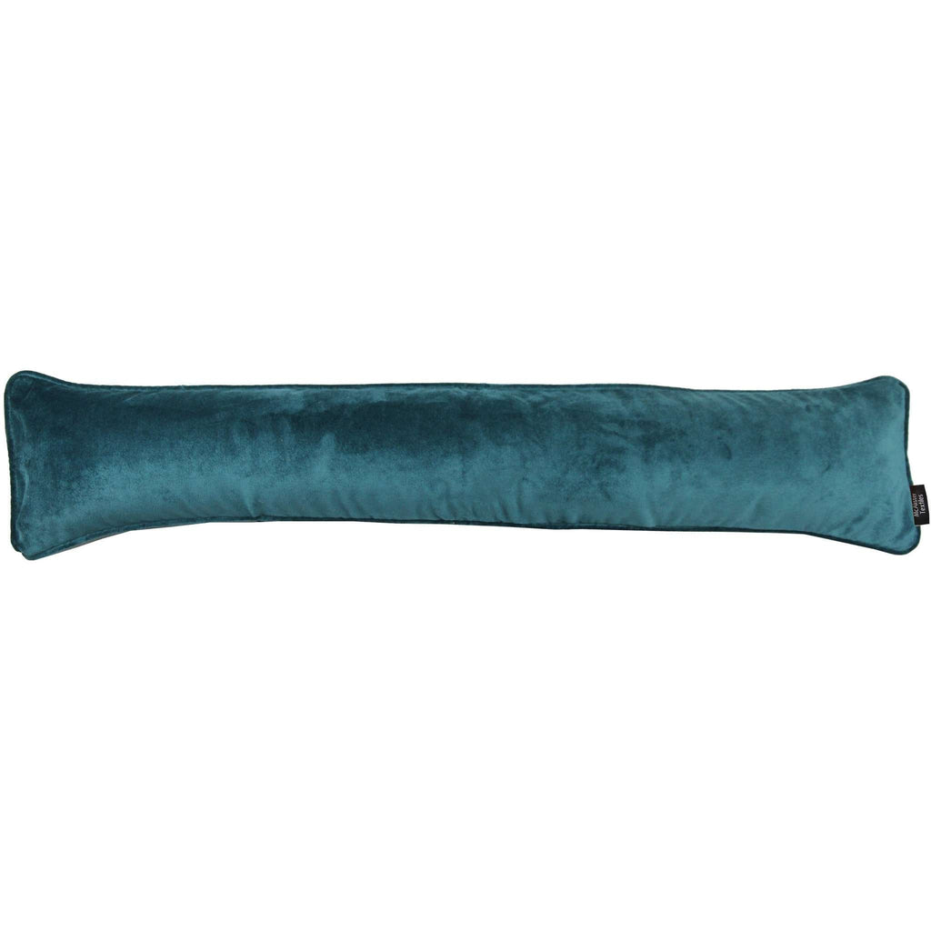 McAlister Textiles Matt Blue Teal Velvet Draught Excluder Draught Excluders