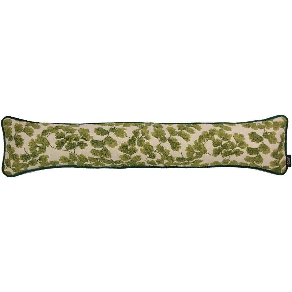 McAlister Textiles Green Maidenhair Fern Tapestry Draught Excluder-Doorstops-