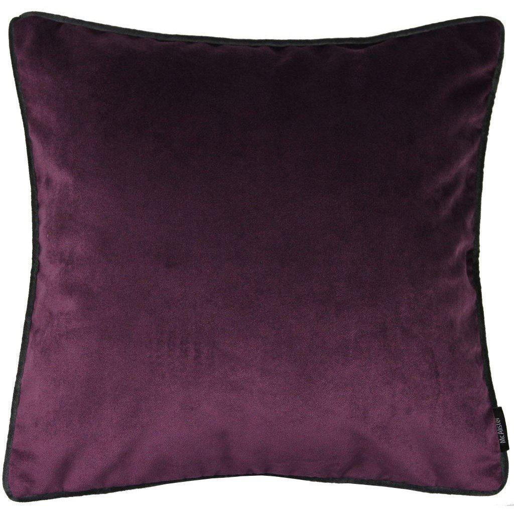 McAlister Textiles Matt Aubergine Purple Velvet Pillow Pillow Cover Only 43cm x 43cm