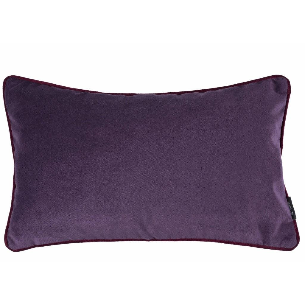 McAlister Textiles Matt Aubergine Purple Velvet Cushion Cushions and Covers Cover Only 50cm x 30cm