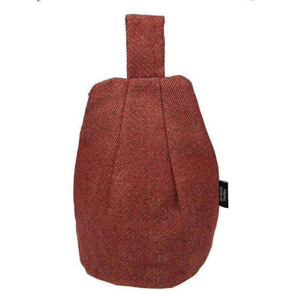 McAlister Textiles Herringbone Red Tablet Stand Mini Bean Bag
