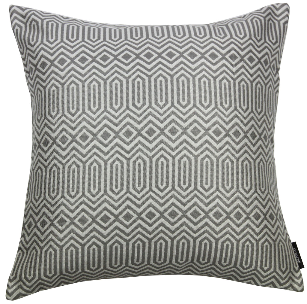 McAlister Textiles Colorado Geometric Charcoal Grey Pillow Pillow Cover Only 43cm x 43cm