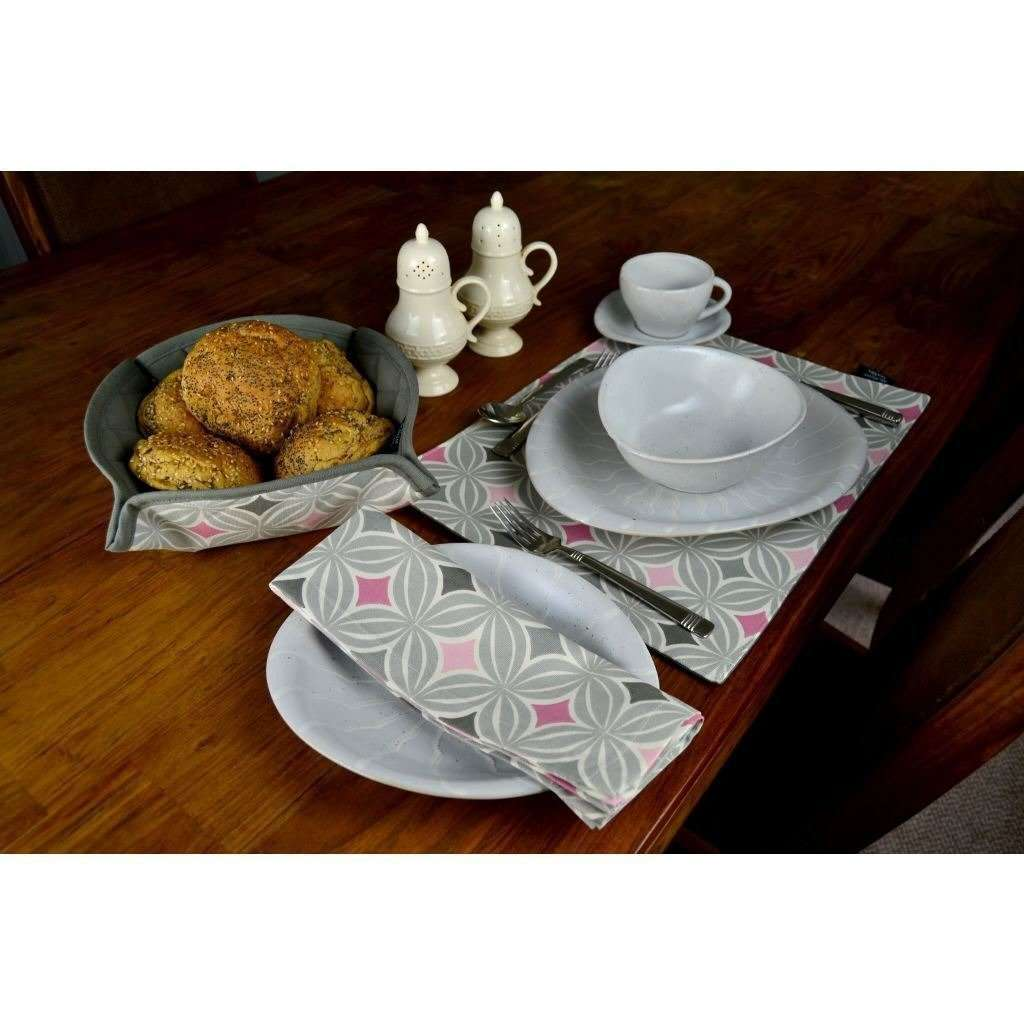 McAlister Textiles Laila Blush Pink Cotton Placemat Set Kitchen Accessories