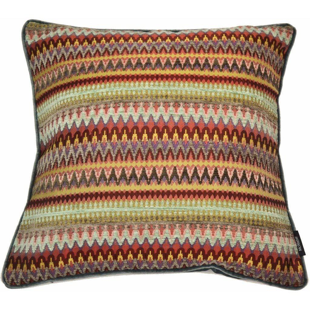 McAlister Textiles Curitiba Red + Purple Aztec Cushion Cushions and Covers Cover Only 43cm x 43cm
