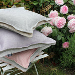 Load image into Gallery viewer, McAlister Textiles Rhumba Accent Blush Pink + Grey Cushion Cushions and Covers