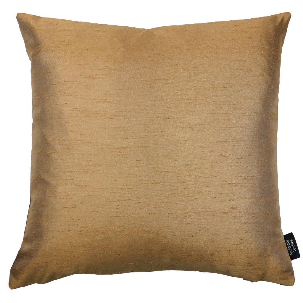 McAlister Textiles Rocco Contrast Faux Silk Bronze + Gold Cushion Cushions and Covers Cover Only 43cm x 43cm