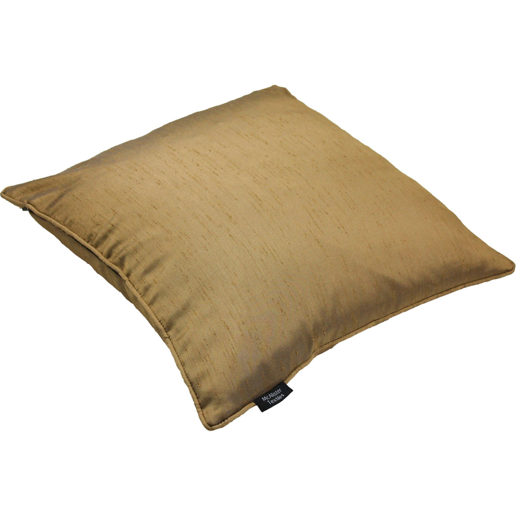 McAlister Textiles Rocco Plain Faux Silk Gold Cushion Cushions and Covers