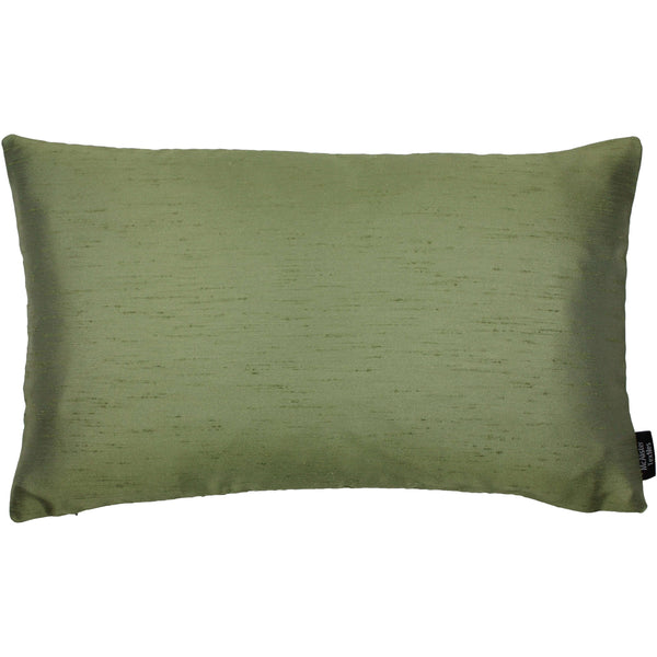 McAlister Textiles Rocco Contrast Faux Silk Green + Natural Pillow Pillow Cover Only 50cm x 30cm