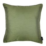 Load image into Gallery viewer, McAlister Textiles Rocco Plain Faux Silk Green Cushion Cushions and Covers Cover Only 43cm x 43cm