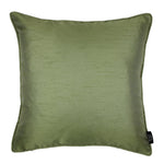 Load image into Gallery viewer, McAlister Textiles Rocco Plain Faux Silk Green Pillow Pillow Cover Only 43cm x 43cm