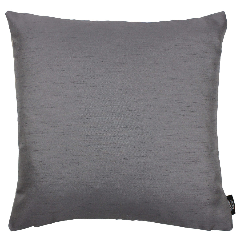 McAlister Textiles Rocco Contrast Faux Silk Grey+ Taupe Cushion Cushions and Covers Cover Only 43cm x 43cm