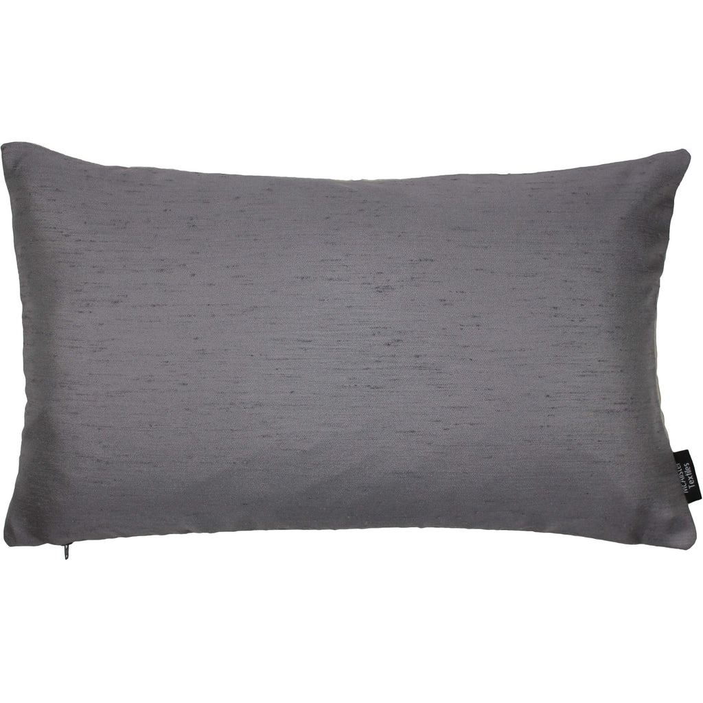 McAlister Textiles Rocco Contrast Faux Silk Grey + Taupe Pillow Pillow Cover Only 50cm x 30cm