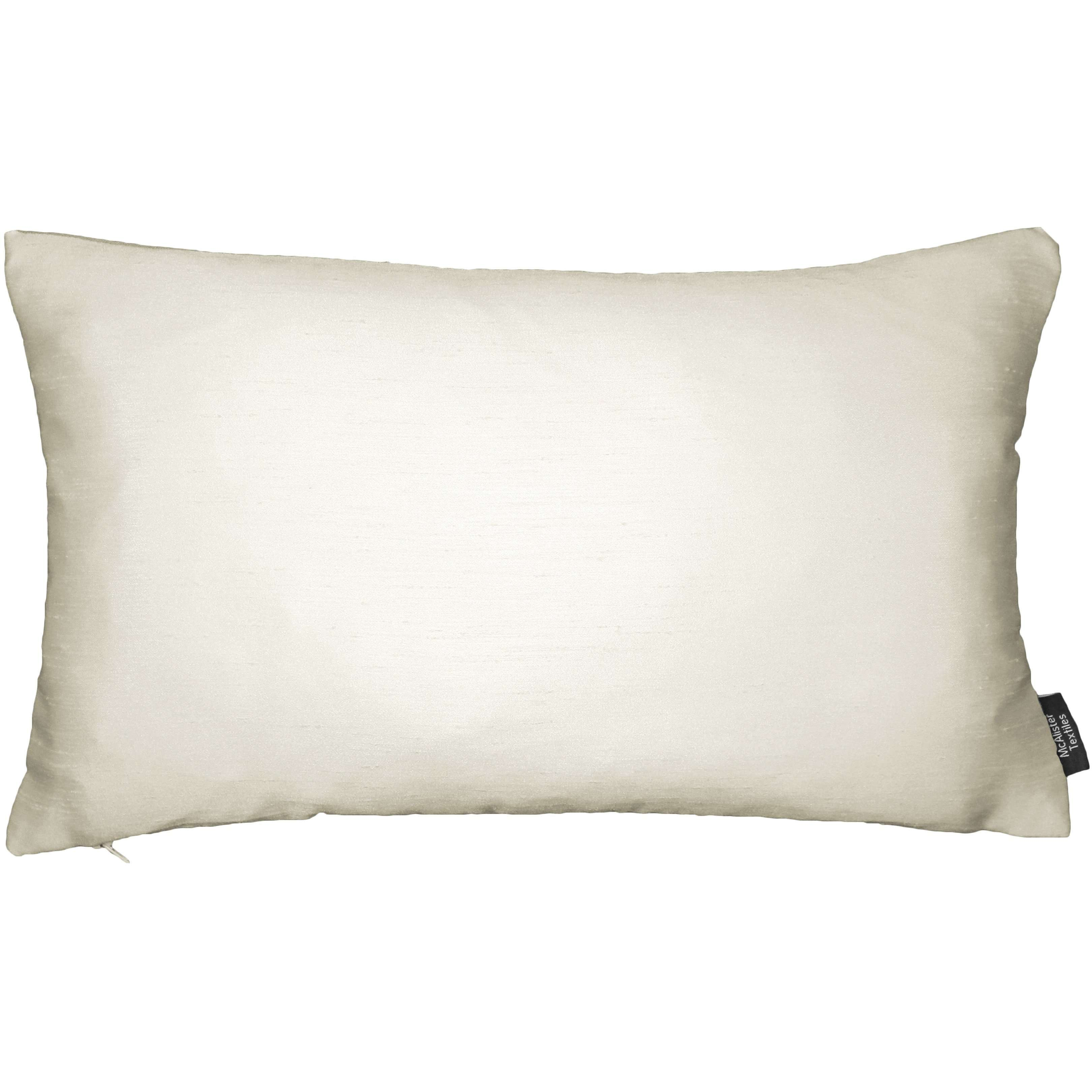 McAlister Textiles Rocco Contrast Faux Silk Natural + Taupe Pillow Pillow Cover Only 50cm x 30cm