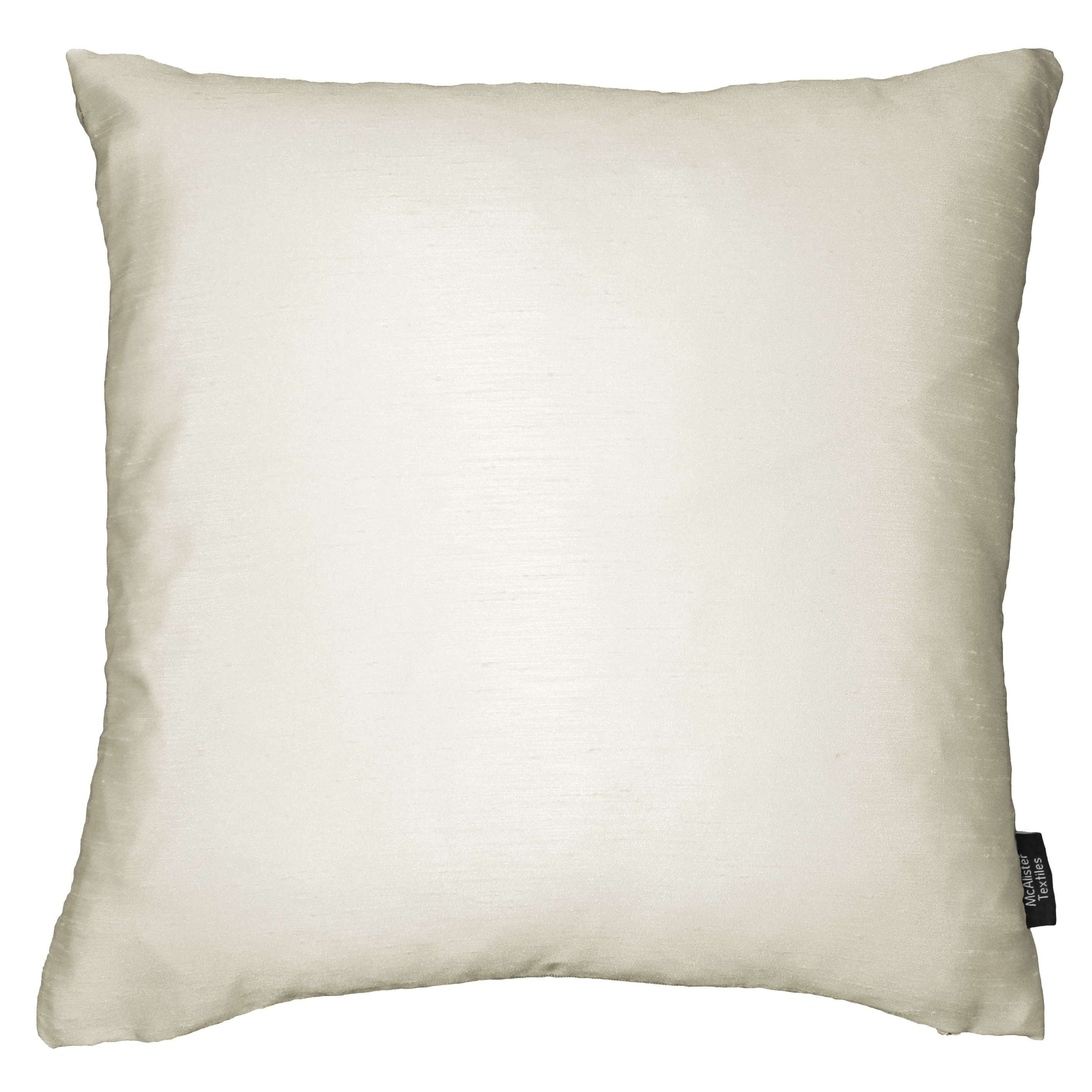 McAlister Textiles Rocco Contrast Faux Silk Natural + Taupe Pillow Pillow