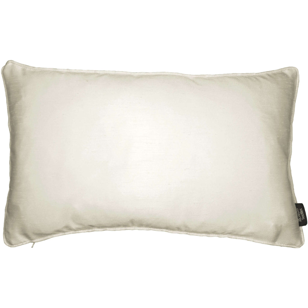 McAlister Textiles Rocco Plain Faux Silk Natural Cushion Cushions and Covers Cover Only 50cm x 30cm