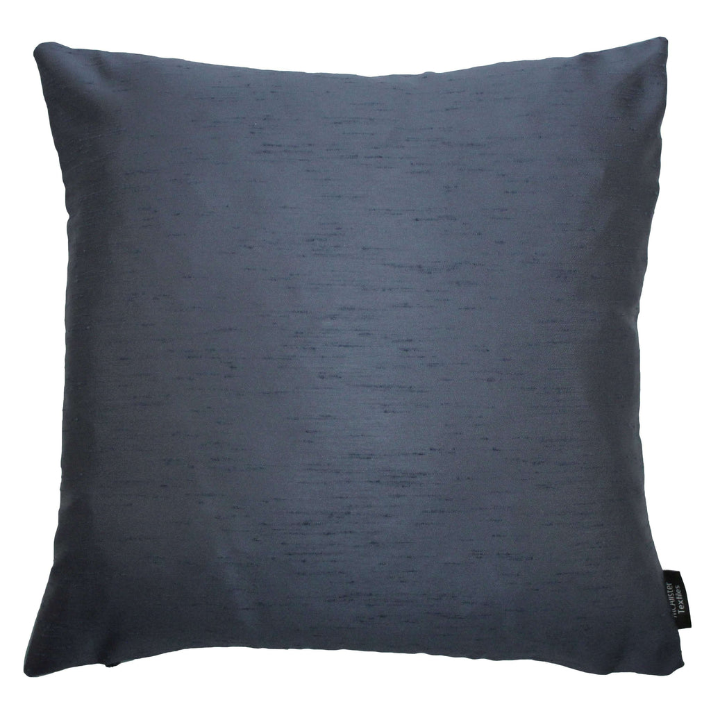 McAlister Textiles Rocco Contrast Faux Silk Light + Navy Blue Cushion Cushions and Covers Cover Only 43cm x 43cm