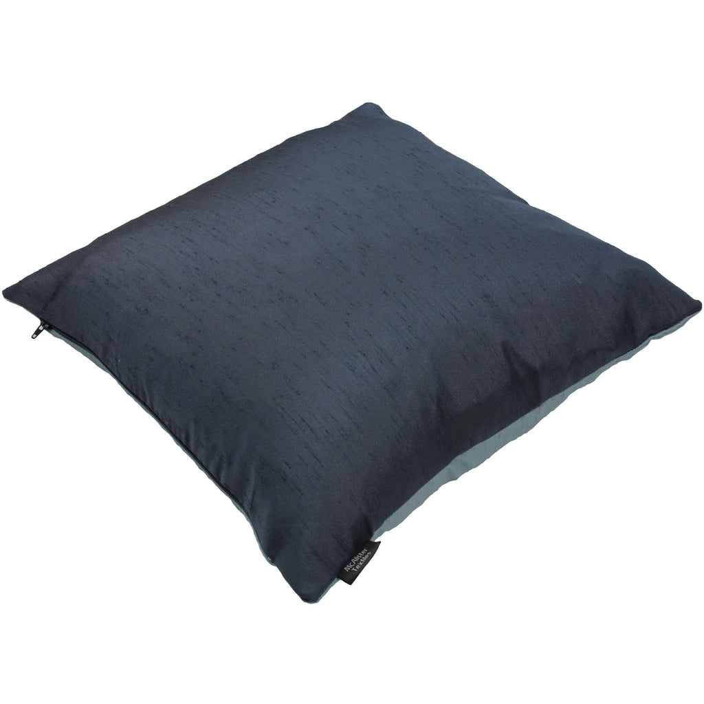 McAlister Textiles Rocco Contrast Faux Silk Light + Navy Blue Cushion Cushions and Covers