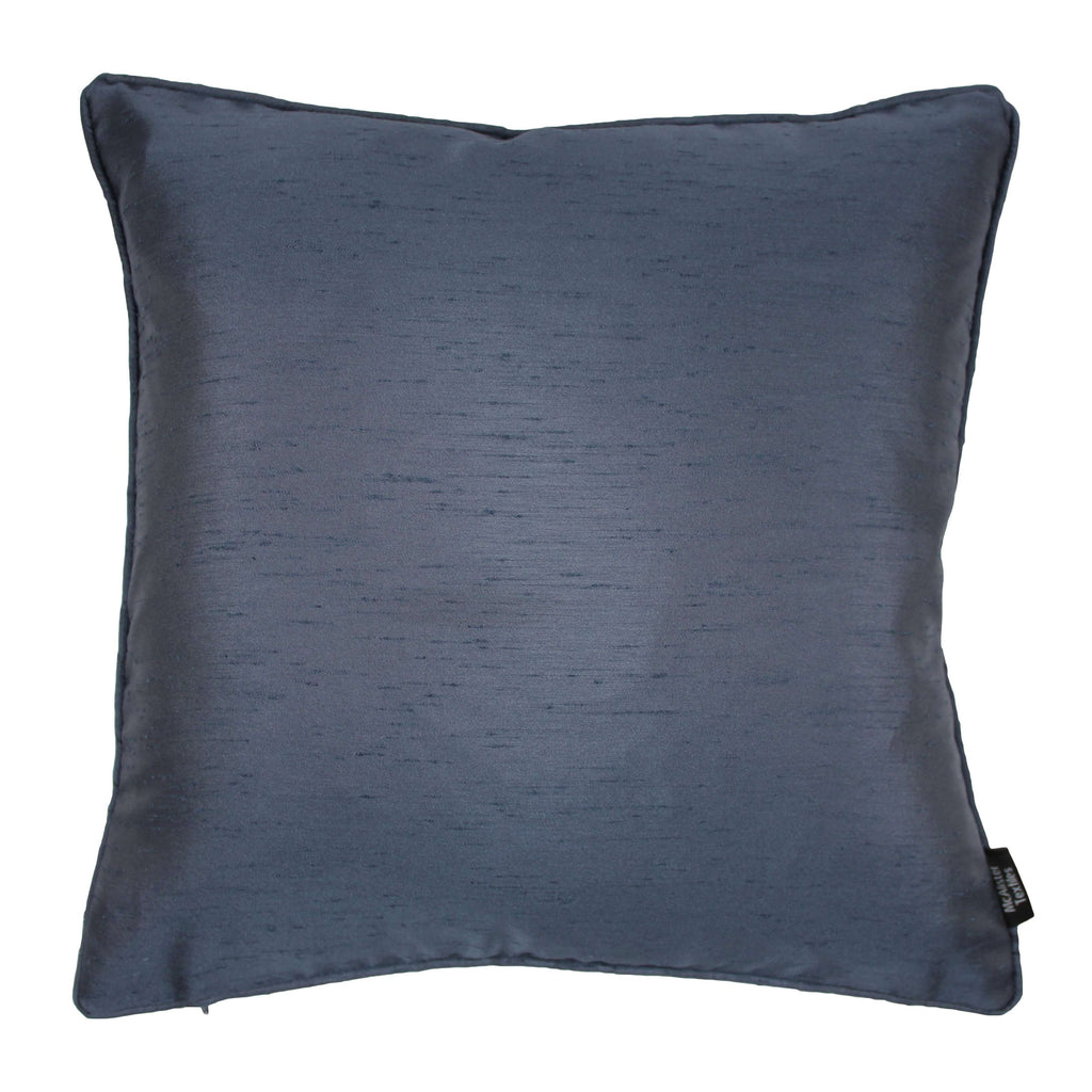 McAlister Textiles Rocco Plain Faux Silk Navy Blue Cushion Cushions and Covers Cover Only 43cm x 43cm