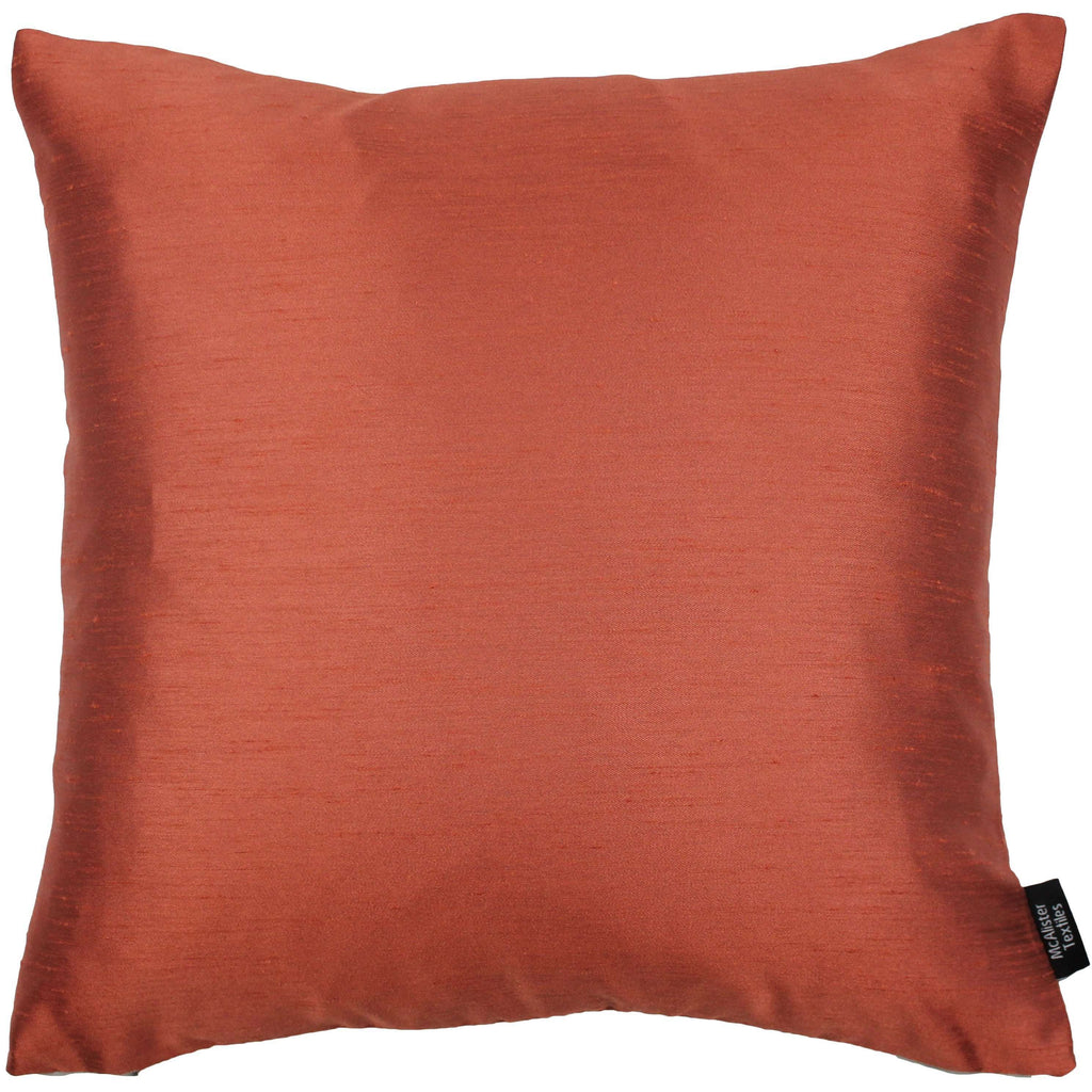 McAlister Textiles Rocco Contrast Faux Silk Orange + Taupe Cushion Cushions and Covers Cover Only 43cm x 43cm