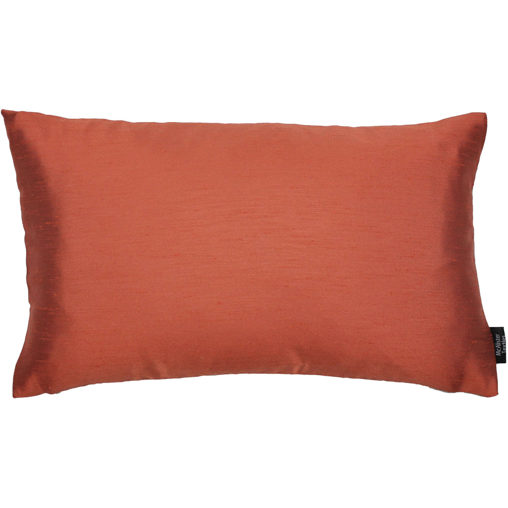 McAlister Textiles Rocco Contrast Faux Silk Orange + Taupe Pillow Pillow Cover Only 50cm x 30cm