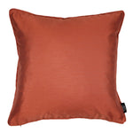 Carica l'immagine nel visualizzatore di Gallery, McAlister Textiles Rocco Plain Faux Silk Burnt Orange Cushion Cushions and Covers Cover Only 43cm x 43cm