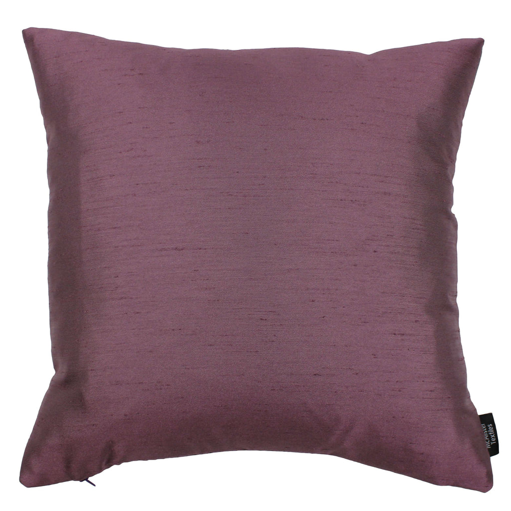 McAlister Textiles Rocco Contrast Faux Silk Purple + Grey Cushion Cushions and Covers Cover Only 43cm x 43cm